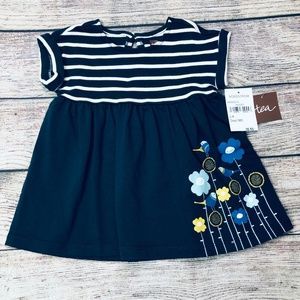NWT Tea Collection size 3-6m navy swing dress